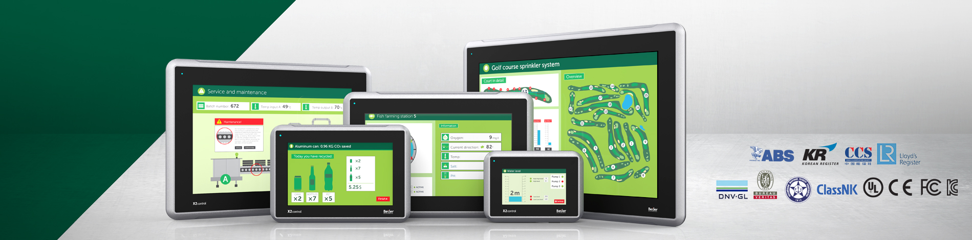 X2 control HMI with integrated Codesys control
